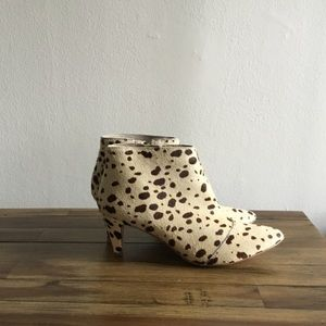 b4bc48c460a Kristin Cavallari CL Peep toe Lara Booties 5.5new.  M 5b579a075098a05036144936. Other Shoes you may like. Matisse cheetah print  booties